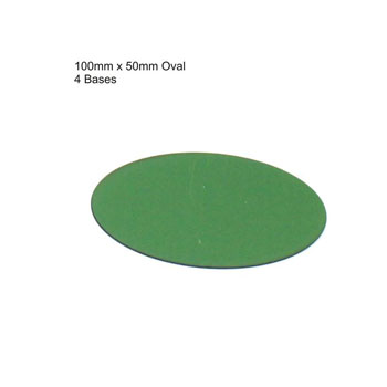 100mm x 50mm Oval Bases