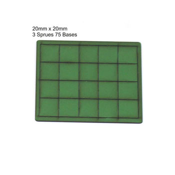 20mm x 20mm Bases