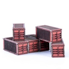 Micro Scale Containers x6 (Red)